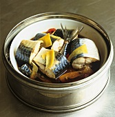 Mackerel stew with ginger and chilli