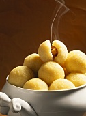 Potato dumplings made with raw potatoes (Thuringian dumplings)