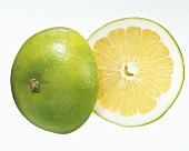 Sweetie (Citrus grandis, cross between pomelo & grapefruit)