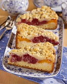Sour cherry and apricot cake