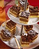 Chocolate and hazelnut crumble cake