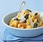 Pasta with pumpkin, sage and Parmesan