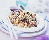Asian noodle and mushroom stir-fry