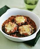 Parmigiana di melanzane (Aubergine bake with Parmesan, Italy)