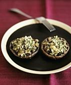 Portobello mushrooms with nut stuffing