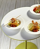 Scampi with melon