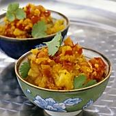 Kartoffel-Tomaten-Brei (Indien)