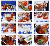 Making tomato sugo