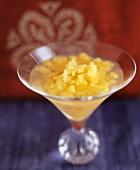 Martini with peach granita