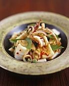 Stir-fried squid with chilli (Thailand)