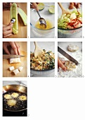 Making Thai fish cakes with cucumber salad