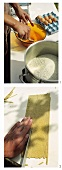 Making buckwheat pasta