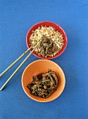 Stir-fried beef with ginger