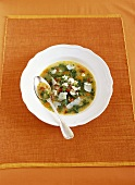 Minestrone alla menta (Italian vegetable soup)
