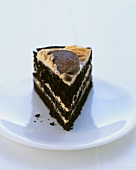 Chocolate sponge cake with orange cream