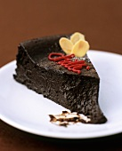 A piece of chilli chocolate cake