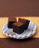 Chocolate truffles with star anise