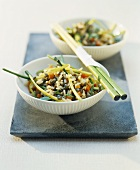 Asian rice and vegetable stir-fry