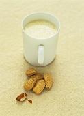 Warm almond milk