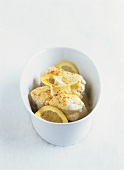 Monkfish with lemon and Parmesan