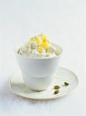 Mousse vaporetto with mascarpone, honey and cardamom