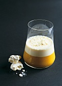 Smoothie with milk and meringue topping