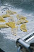 Mezzelune fresche (Home-made pasta envelopes, Italy)