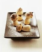 Süsse Pilze (aus Baiserteig)