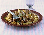 Fegato alla veneziana (Sweet & sour calf's liver with onions)