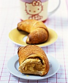 Croissant filled with almond cream