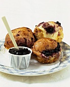 Brioches with blueberry jam