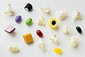 Popcorn, liquorice allsorts and jelly beans