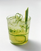 Cucumber drink with vodka