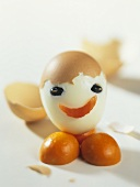 Boiled egg with face