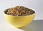 Mixed cereal grains in a bowl