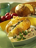 Potatoes with herb quark
