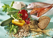 Cereals, vegetables, fish and wholemeal bread (fat burners)