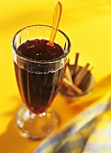 Anti-flu drink made with elderberry nectar