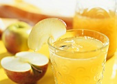 Apple schorle (apple juice & mineral water) with lemon juice