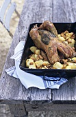 Lemon and herb chicken with potatoes
