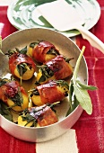 Ham-wrapped potatoes with herbs