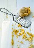 Pasta dough for grated pasta with grater