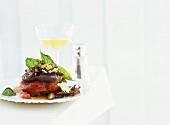 Aubergine with shiitake mushrooms