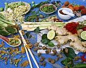 Asiatische Gewürze und Kräuter