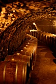 Maturation cellar in the Oremus vineyard in Tolcsva, Hungary