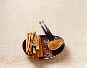 Cinnamon sticks, cinnamon roughly chopped and cinnamon powder