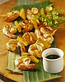 Prawn and mango kebabs