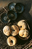 Small bread rolls in tins
