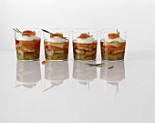 Canapes (fish and seafood in aspic)