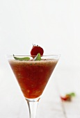 A strawberry and basil drink